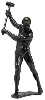 man with sledgehammer by gerhard adolf janensch