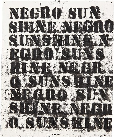 study for negro sunshine ii 14 by glenn ligon