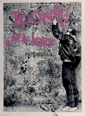 the wall (pink) by mr. brainwash