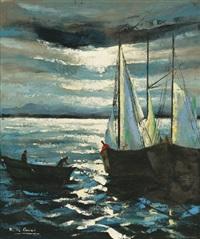 vitorlások (sailing boats) by marguerite de corini