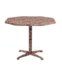 table à plateau octogonal by pierre cardin