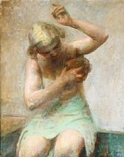 a nude female model by julius paulsen
