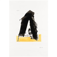 the basque suite one print by robert motherwell