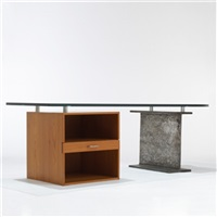 custom desk (collab. w/ralph twitchell) by paul rudolph
