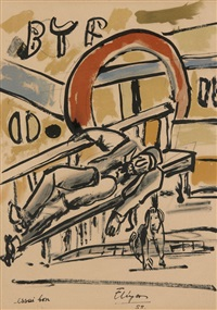 mes voyages - 1 planche by fernand léger