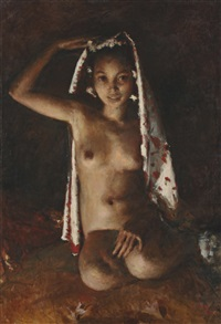 portrait of a nude by romualdo locatelli