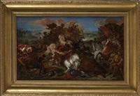 la défaite des croisés à nicopolis en 1396 by eugène delacroix