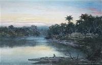 river sunset by william joseph wadham