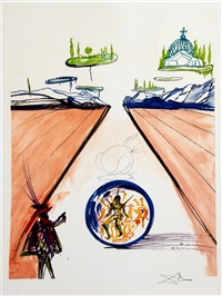 imaginations and objects of the future (suite of 10) by salvador dalí