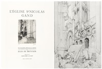 l'église st-nicolas, gand (album w/30 works) by jules de bruycker