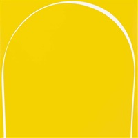 poured painting: yellow, white, yellow by ian davenport
