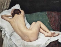 female nude by jan van de fackere