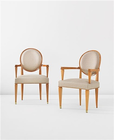 armchairs pair by andre arbus