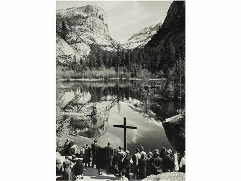 mirror lake by ansel adams