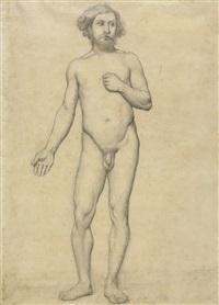 homme debout by edgar degas