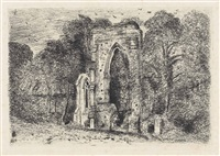 netley abbey by john constable