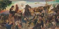 pasukan kita yang dipimpin pangeran diponegoro (our soldiers led under prince diponegoro) by s. sudjojono