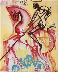 saint georges (seria les chevaux daliniens) by salvador dalí