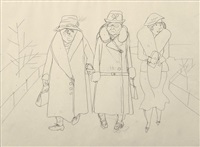 three women in berlin by george grosz