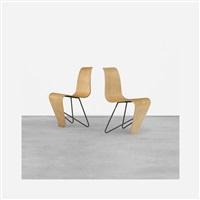bellevue chairs (pair) by andré lucien albert bloc