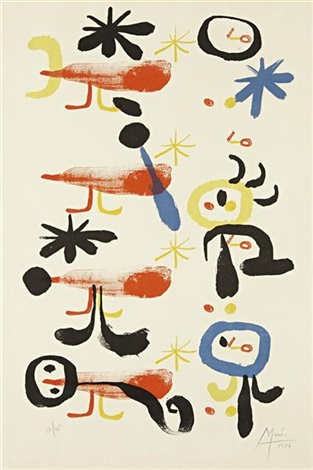 the bird-catchers, i by joan miró