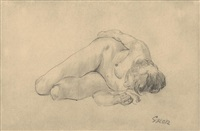 akt (nude) by george grosz