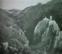 ruine rauhenstein und rauheneck bei baden by therese holbein