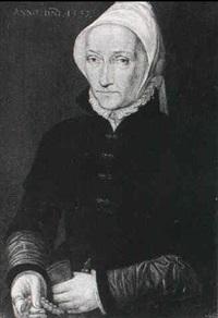 portrait of a lady by bartholomaus (barthel) bruyn (-unattributable)