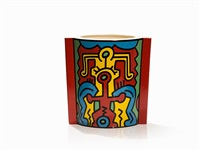 vase 'spirit of art' by keith haring