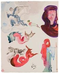 anges et diverses figures by salvador dalí