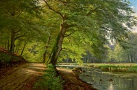 a spring day in the woods by august jacobsen