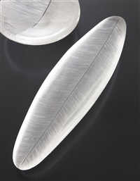 leaf platter, art object 3369/3869 by tapio wirkkala