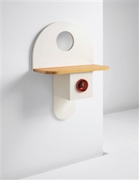 rare 'tempus' wall-mounted console by ettore sottsass