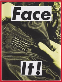 face it! (yellow) by barbara kruger