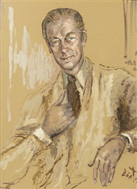 portrait of sir rex harrison as henry higgins in my fair lady by cecil beaton