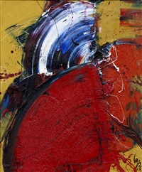work with two fans by kazuo shiraga