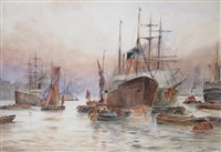 lower pool, london by frederick william scarborough