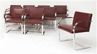 suite de dix fauteuils modèle brno (set of 10) by ludwig mies van der rohe