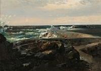 storm ved den svenske kyst by carl frederik peder aagaard