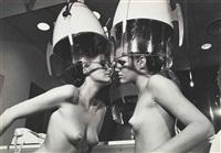 patti hansen and winnie hollman for xavier coiffures, new york by helmut newton