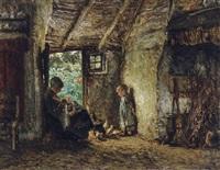 intérieur de maison paysanne by bernardus johannes blommers