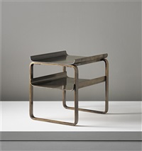 two-tier frame table, model nos. 75/83 and 915, designed for the tuberculosis sanatorium, paimio by alvar aalto