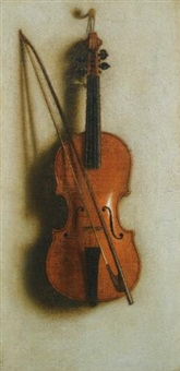 portrait of a violin by john van der vaart