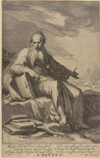 s. paulus (after abraham bloemaert) by willem isaaksz swanenburgh the elder