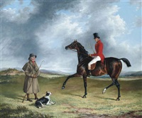 a sportsman thrown out, enquiring of a shepherd by george henry laporte