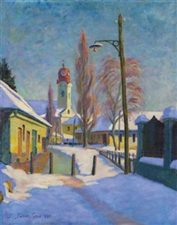 baia mare at winter by géza kádár
