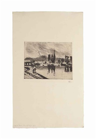 vue de rouen (cours-la-reine) by camille pissarro