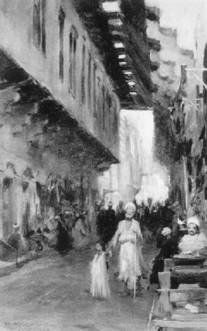 a blind man in the streets of cairo by robert atkinson