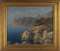 the bay from deya, island of majorca, spain by paul ashbrook