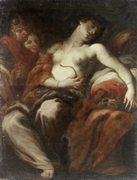 the death of cleopatra by johann karl loth